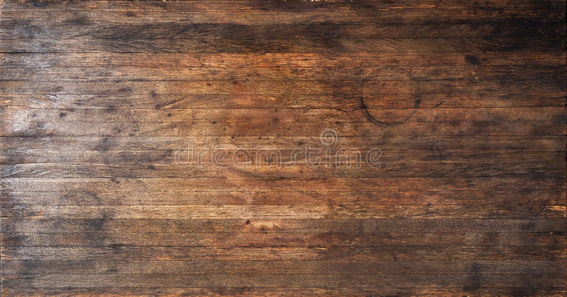 A Used Old And Worn Wood Banner Background With Stains Scrathes