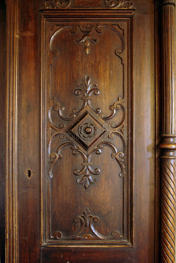 Antique wooden carved door stock image image of detail for Wood carving doors hd images