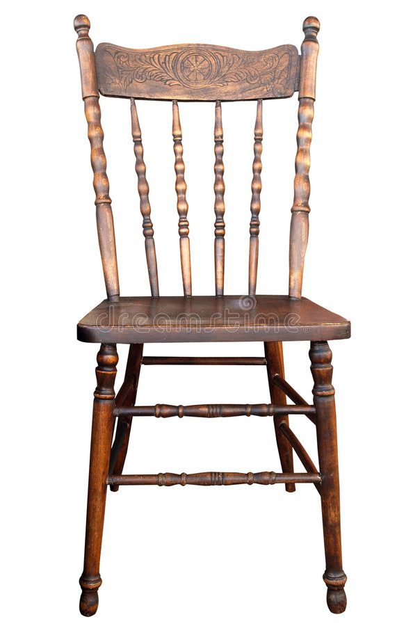 Free Antique Wooden Chair Stock Photography - 5965632
