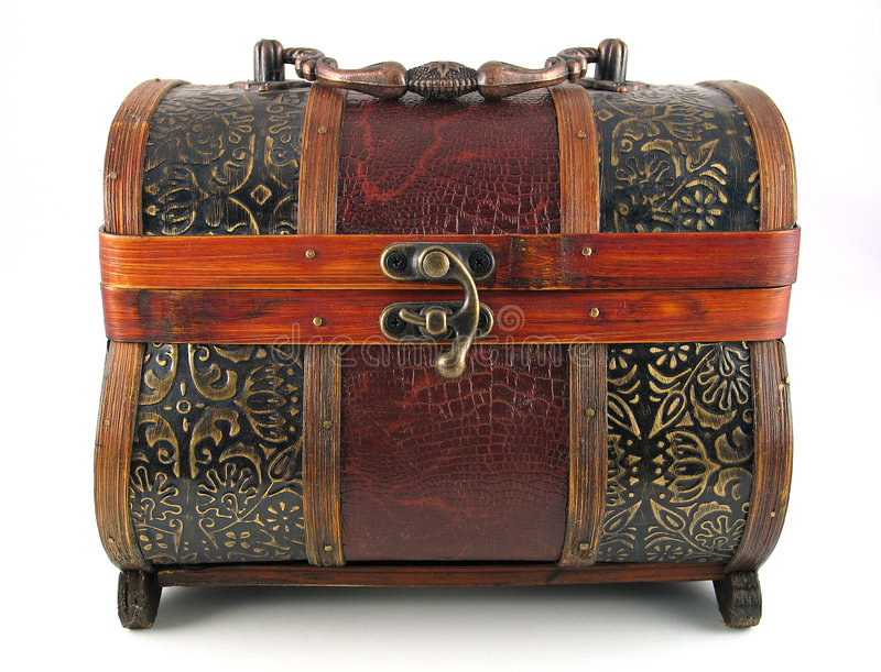 Download Antique wooden chest stock photo. Image of storage, jewelry - 4058
