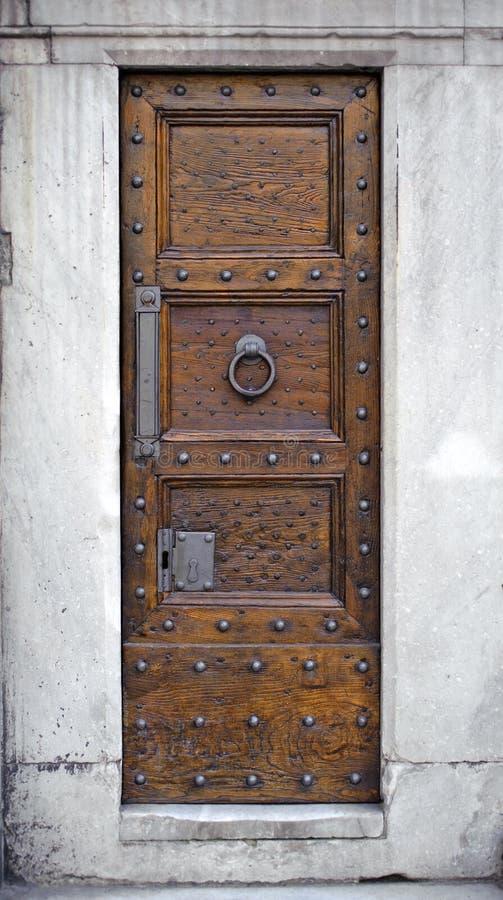 Antique wooden door royalty free stock photography