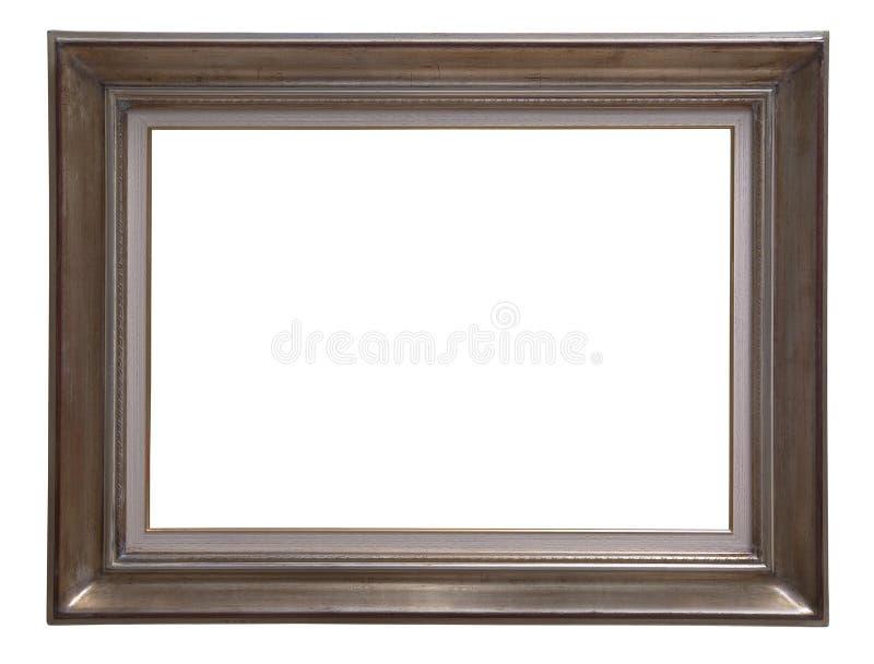 Antique wooden frame stock image