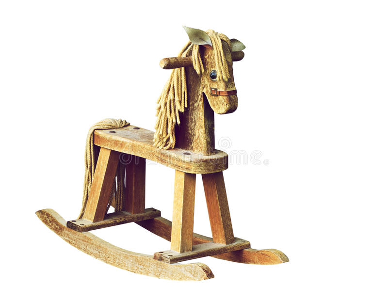 Antique Wooden Rocking Horse. Royalty Free Stock Image