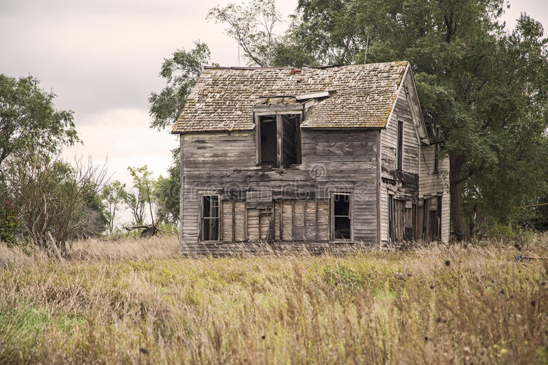Antique wooden rural farm house royalty free stock images