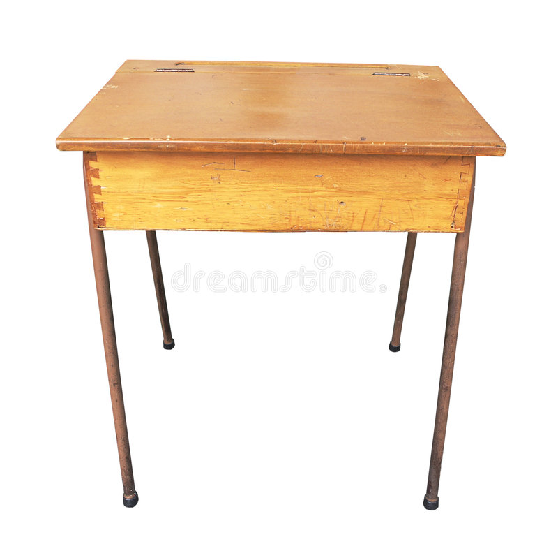 Wooden School Desk ~ Antique wooden school desk stock photo image of vintage