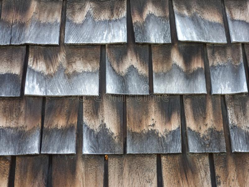Antique wooden Shingles with Grey and Beige Tones royalty free stock images