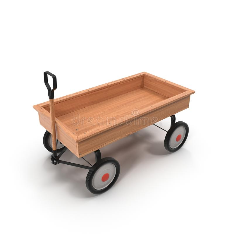 Free Antique Wooden Trolley Isolated On White Royalty Free Stock Photography - 68895767