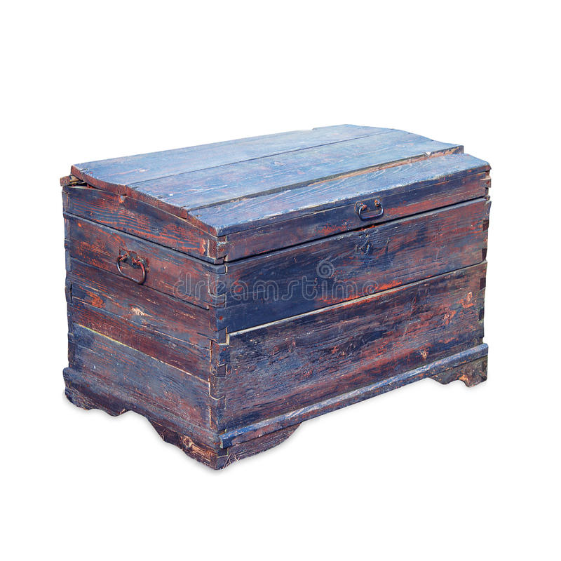 Download Antique wooden trunk stock image. Image of safe, decoration - 14648823