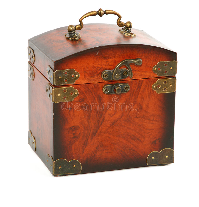 Antique wooden trunk stock image