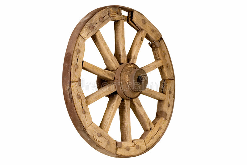 Antique Wooden Wheel 2 Stock Photo. Image Of Part, Cart