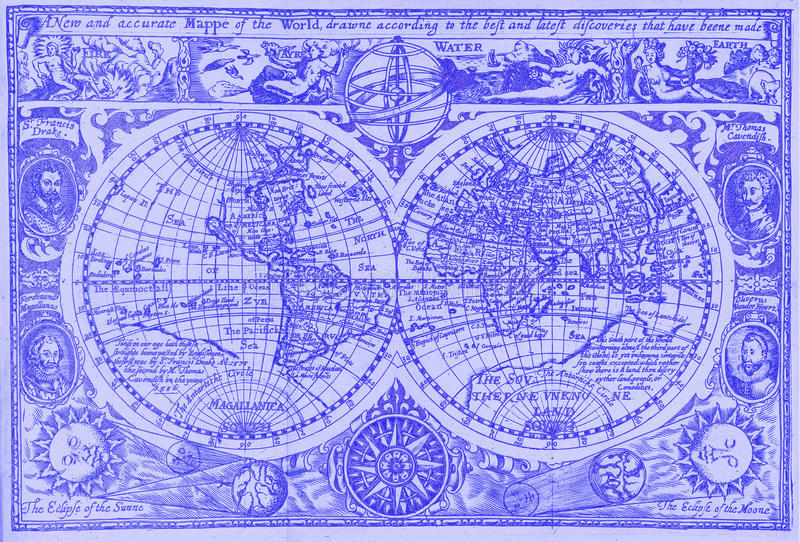 Download Antique World Map Stock Photos - Image: 10780893