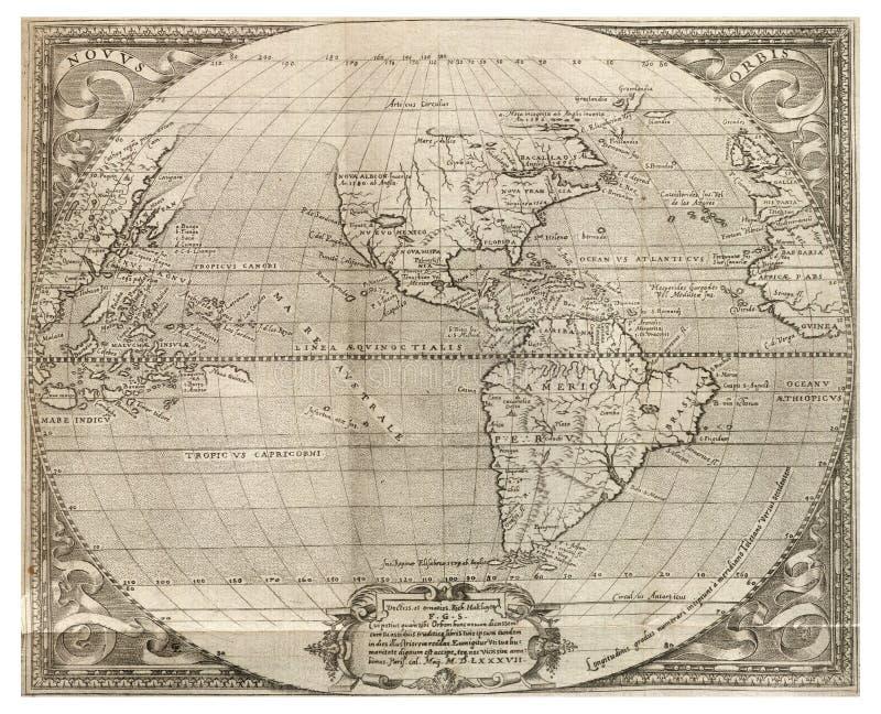 Download Antique world map stock illustration. Image of globe - 12408346