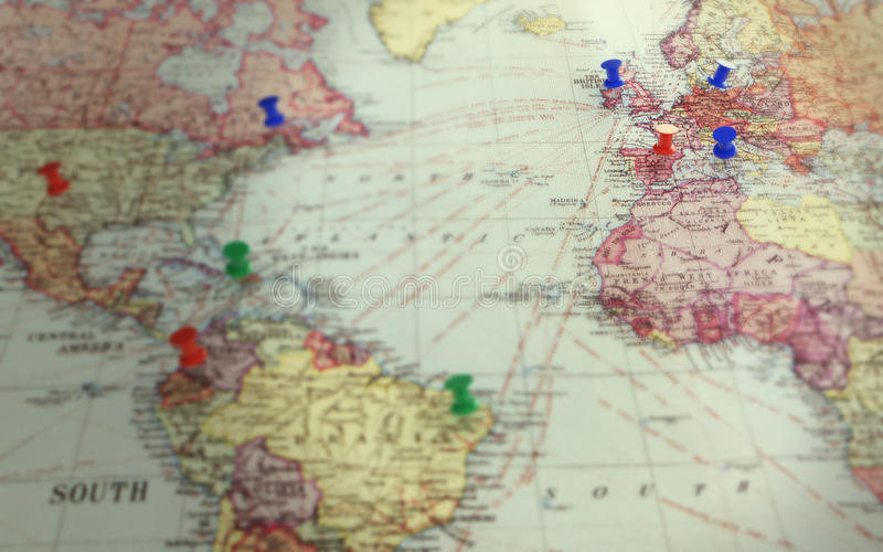 Download Antique world map stock illustration. Image of detail - 20702988