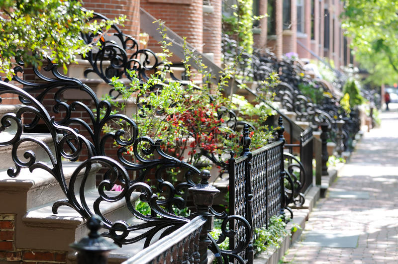 Antique Wrought Iron Railing and Fence royalty free stock photography