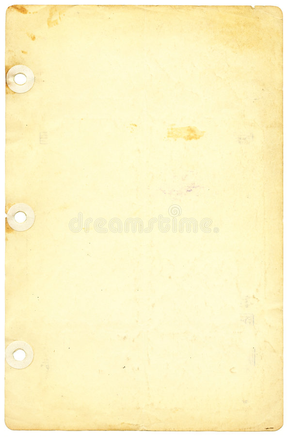 Download Antique,Yellowed Notebook Paper Stock Image - Image: 5485421