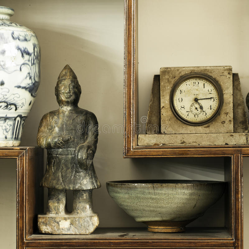 Antiques. For sale at an antique store stock image