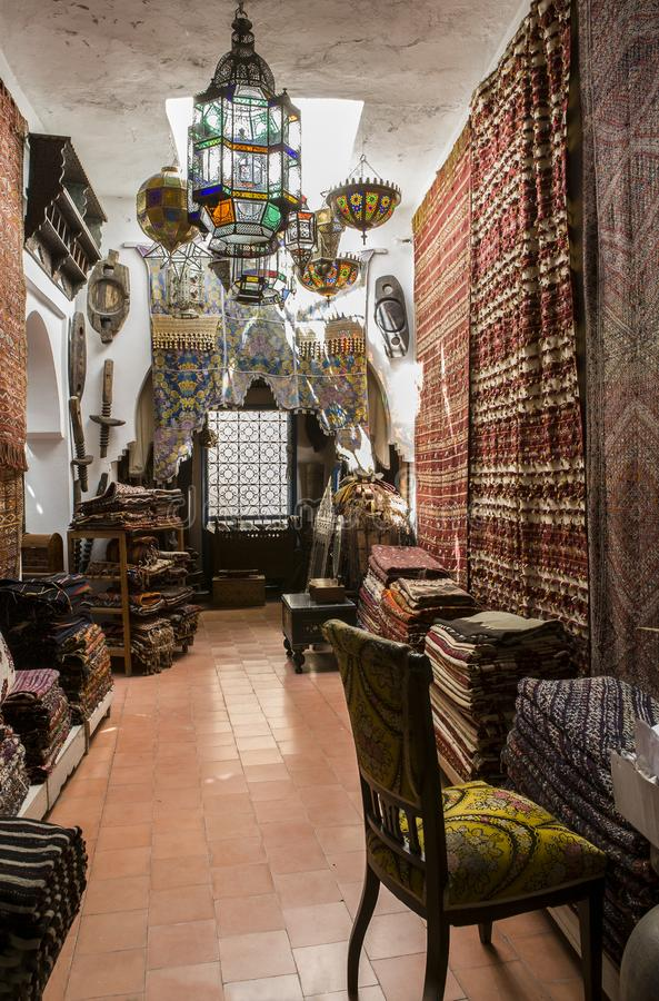 Antiques dealer, Tangier, Morocco stock image