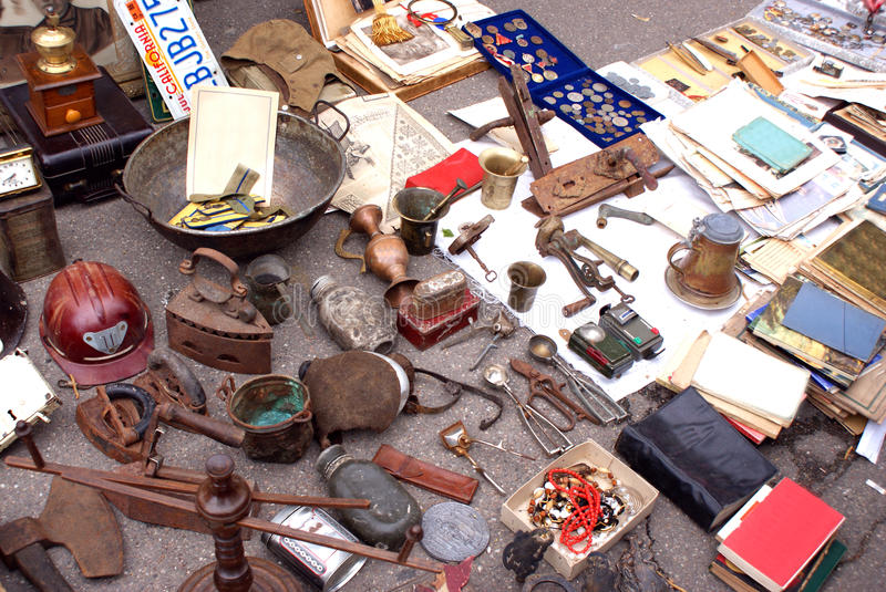 Antiques for sale stock images