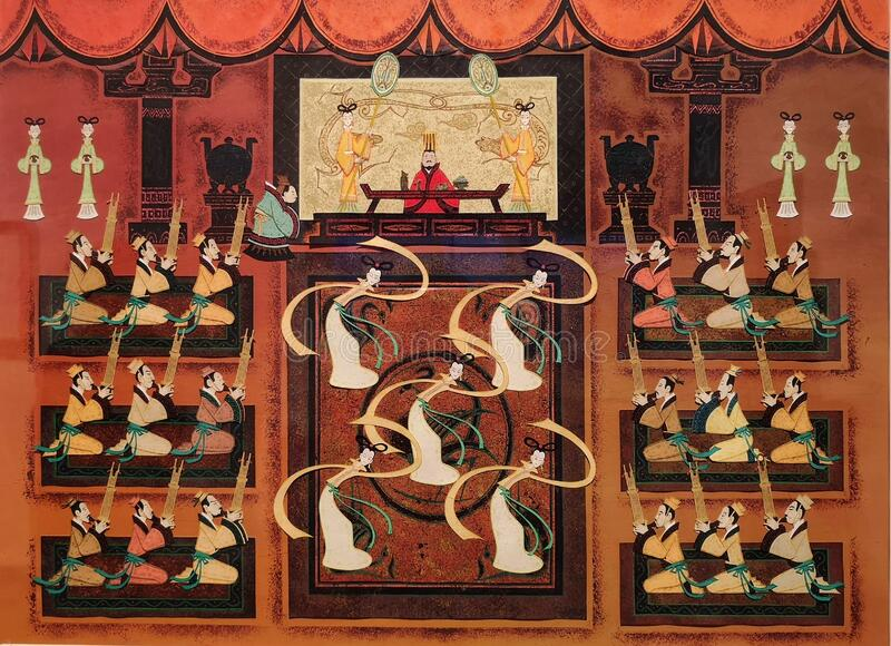 Antiquitätenkunst aus China lizenzfreies stockbild