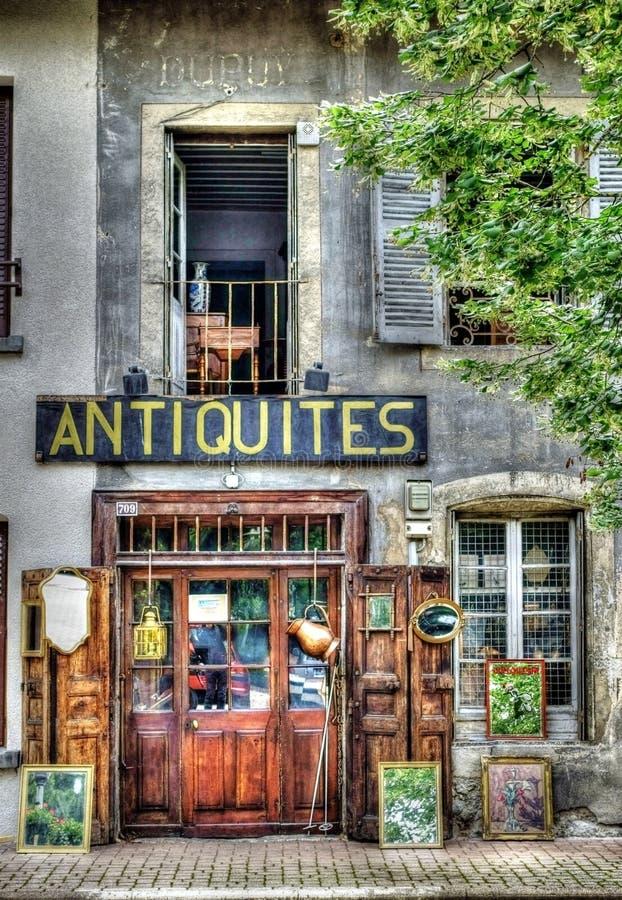 Antiquites Signage royalty free stock photos