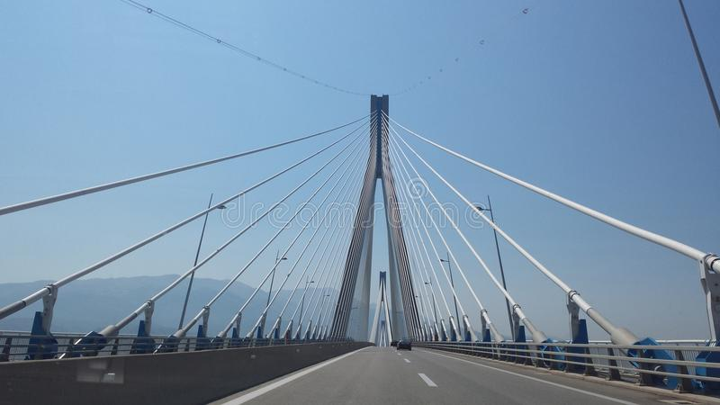 Antirrio-Brücke stockbilder