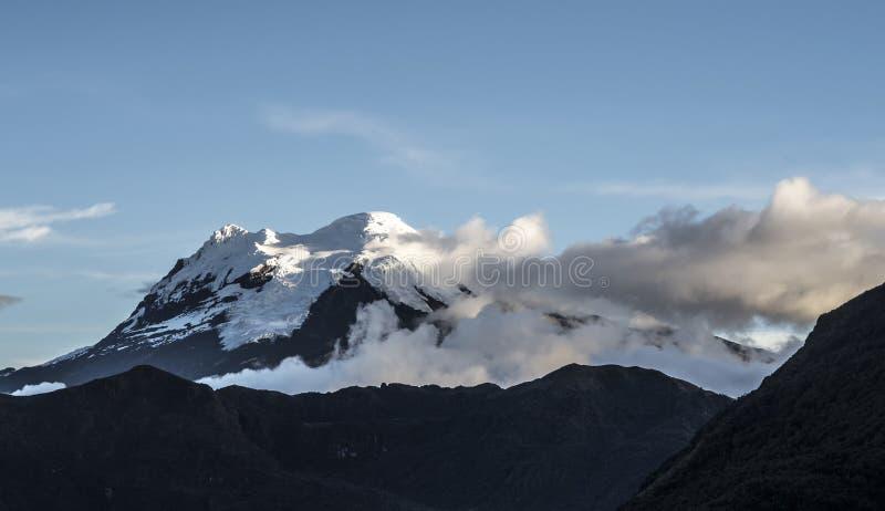 Antisana-Vulkan Nationalpark-Cayambe-Koka Ecuador lizenzfreies stockfoto