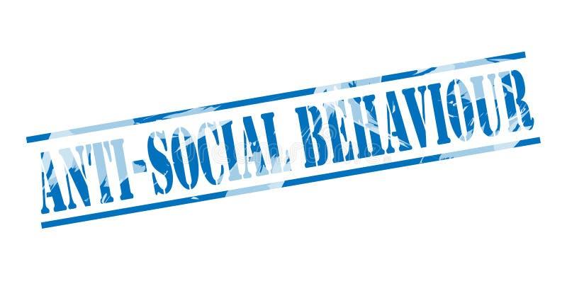 Antisociaal gedrag blauwe zegel royalty-vrije illustratie