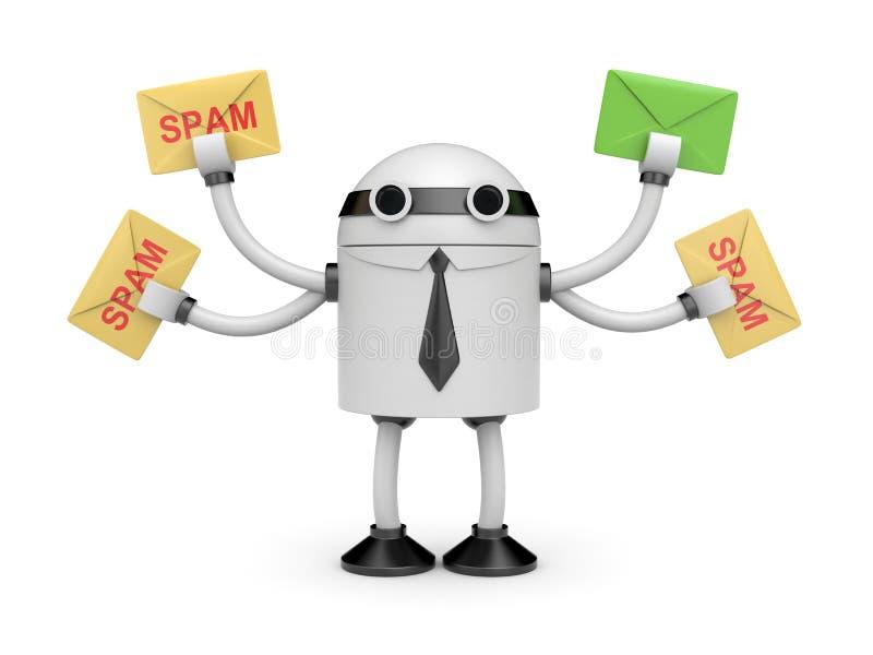 Antispam bot royalty-vrije illustratie