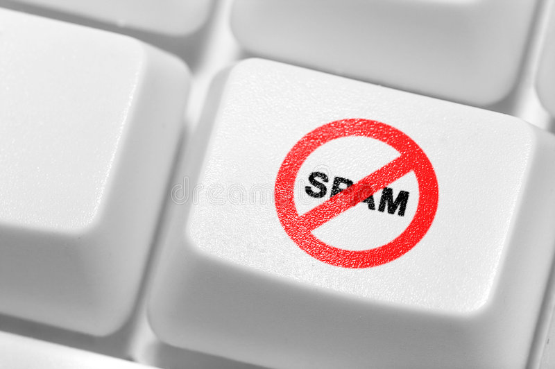 antispam on the keyboard. royalty free stock images