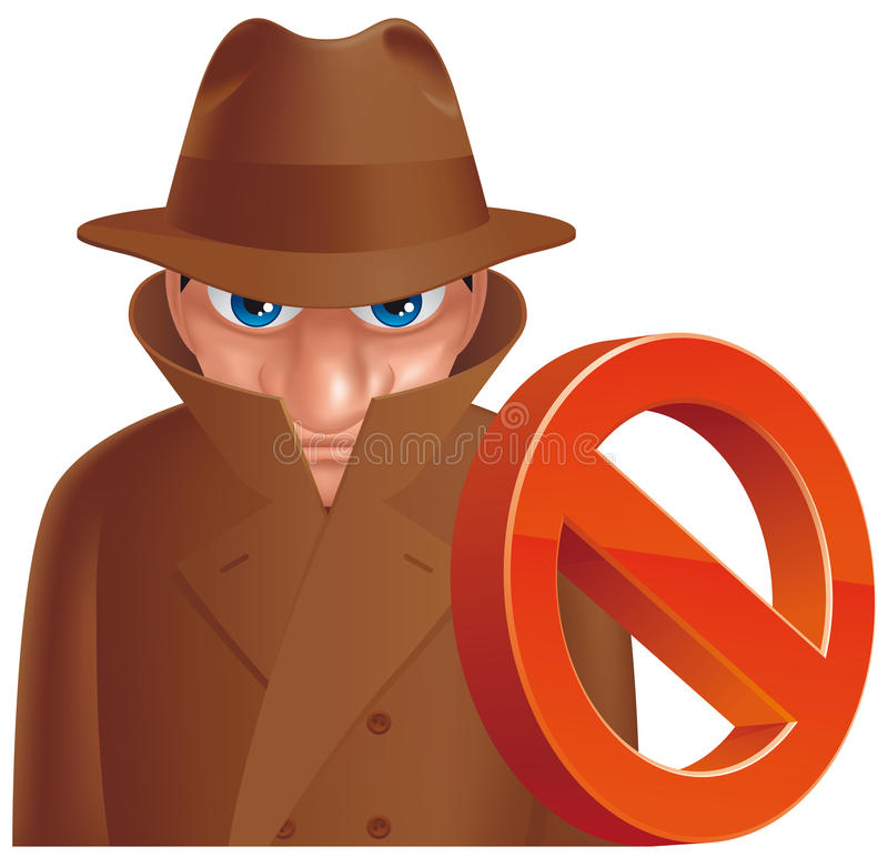 Download Antispy stock vector. Illustration of tech, cartoon, isolated - 25449957