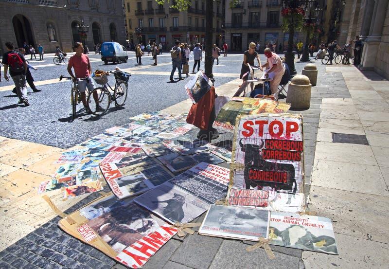 Antistierkampf in Barcelona stockbilder