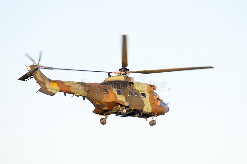 A antitank helicopter on sky