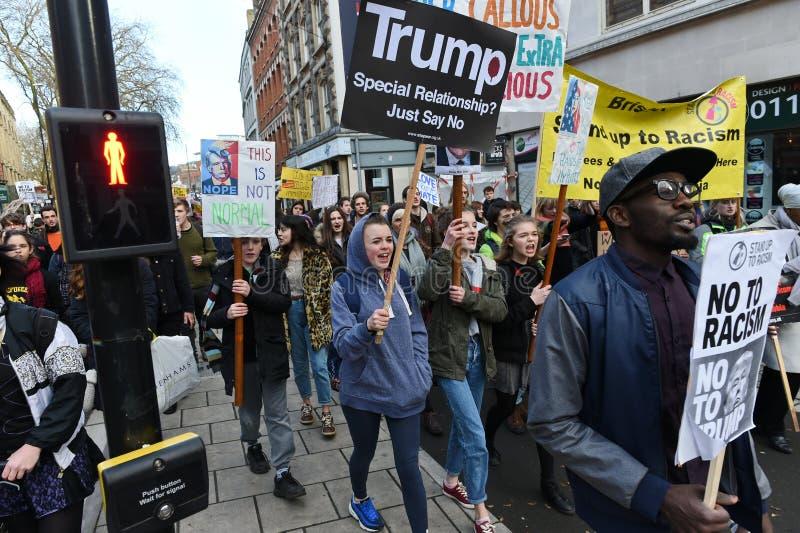 Antitrumpf-Protest lizenzfreies stockfoto