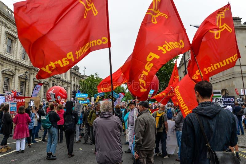 Antitrumpf-Protest - London stockfotos