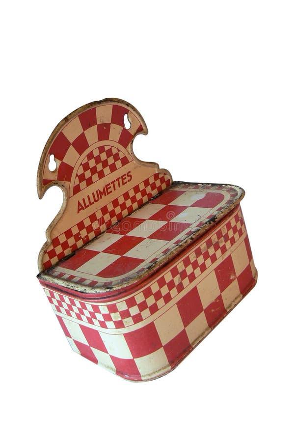 antivenin Красная и белая checkered вешалка стены, ряд коробки спички изолировано стоковое изображение rf