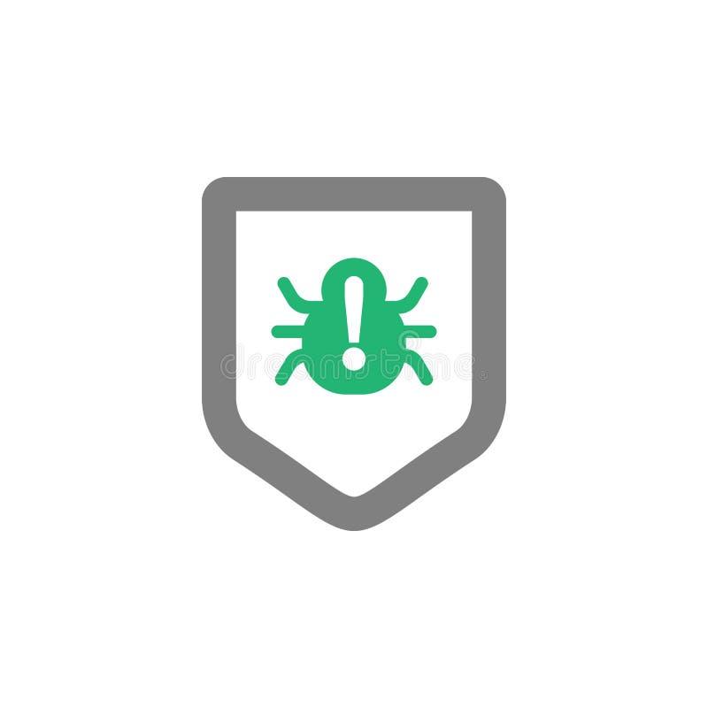 Antivirus, ícone da proteção Elemento do ícone do Cyber e da segurança para apps móveis do conceito e da Web Antivirus detalhado, ilustração royalty free