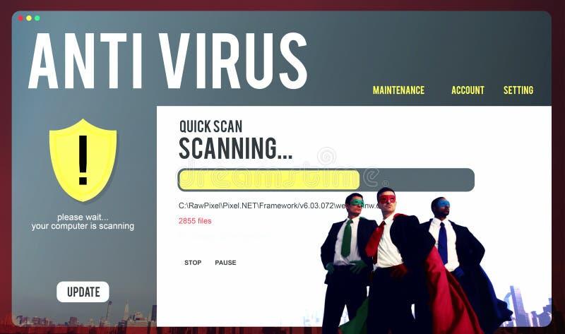 Antivirus het Waakzame Concept van de de Beschermingsveiligheid van de Firewallhakker royalty-vrije stock fotografie