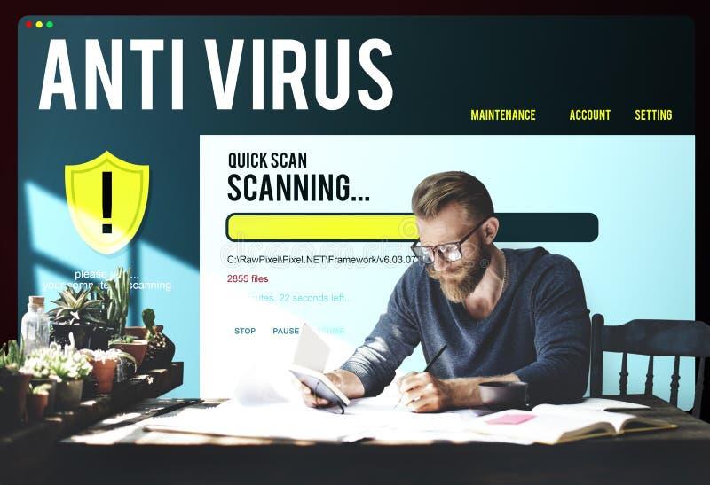 Antivirus het Waakzame Concept van de de Beschermingsveiligheid van de Firewallhakker royalty-vrije stock afbeeldingen