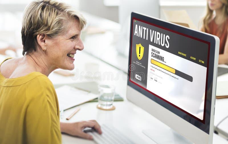 Antivirus het Waakzame Concept van de de Beschermingsveiligheid van de Firewallhakker stock fotografie
