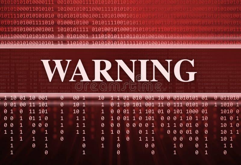 Antivirus. Message d'avertissement illustration libre de droits