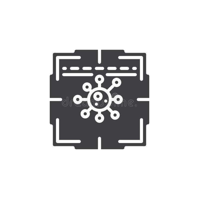 Antivirus scanner icon vector vector illustration