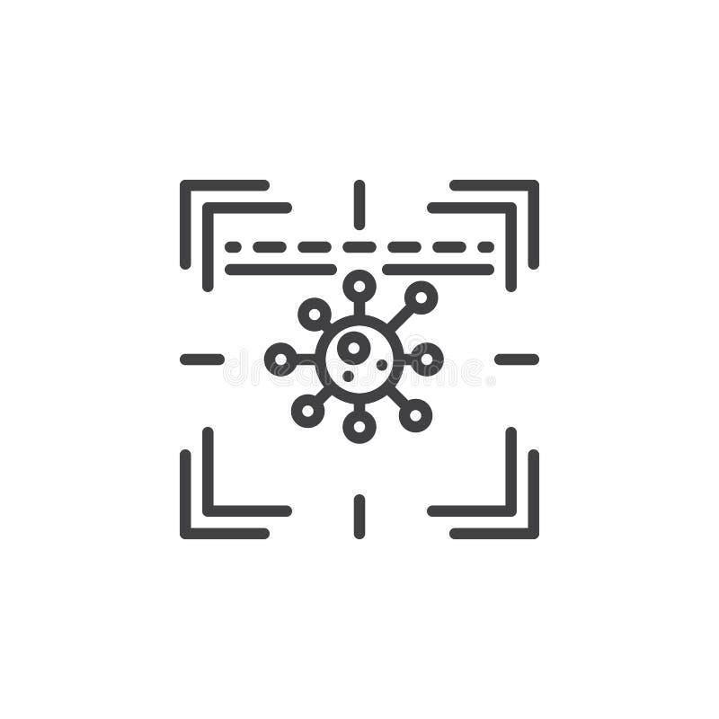 Antivirus scanner line icon vector illustration
