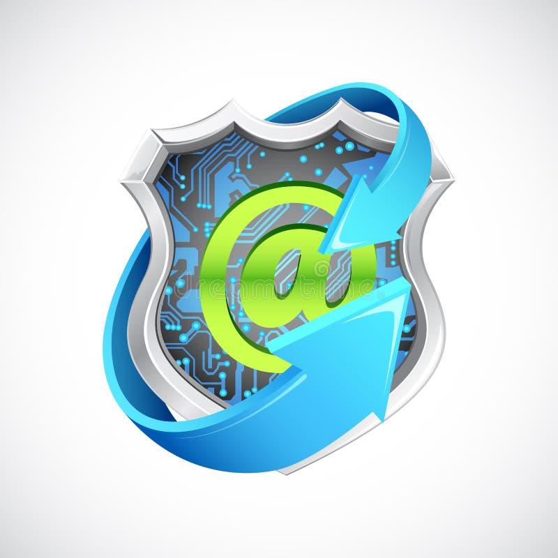 Antivirus Seal stock illustration