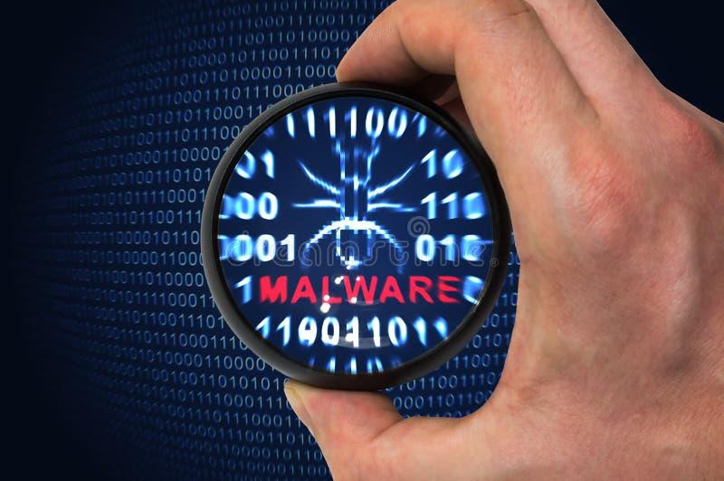 Antivirus tast voor malware af royalty-vrije stock foto