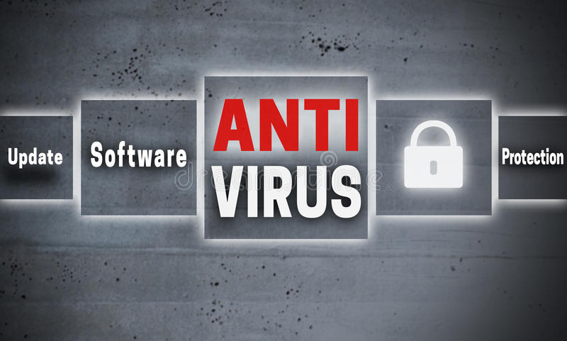 Antivirus touchscreen concept background royalty free stock image