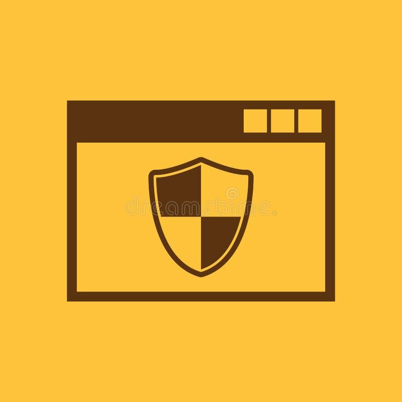 Antivirusikone Entwurf Brandmauer, Antivirussymbol web graphik jpg ai app zeichen nachricht flach bild zeichen ENV vektor abbildung