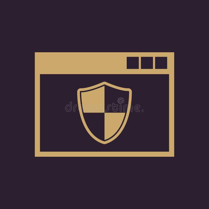 Antivirusikone Entwurf Brandmauer, Antivirussymbol web graphik jpg ai app zeichen nachricht flach bild zeichen ENV stock abbildung