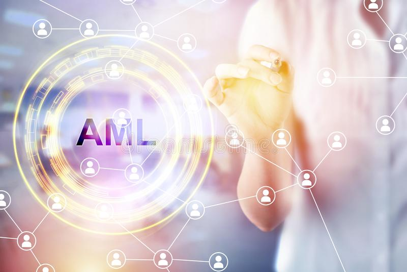 AntiWitwassen van geldconcept & x28; AML& x29; royalty-vrije stock fotografie