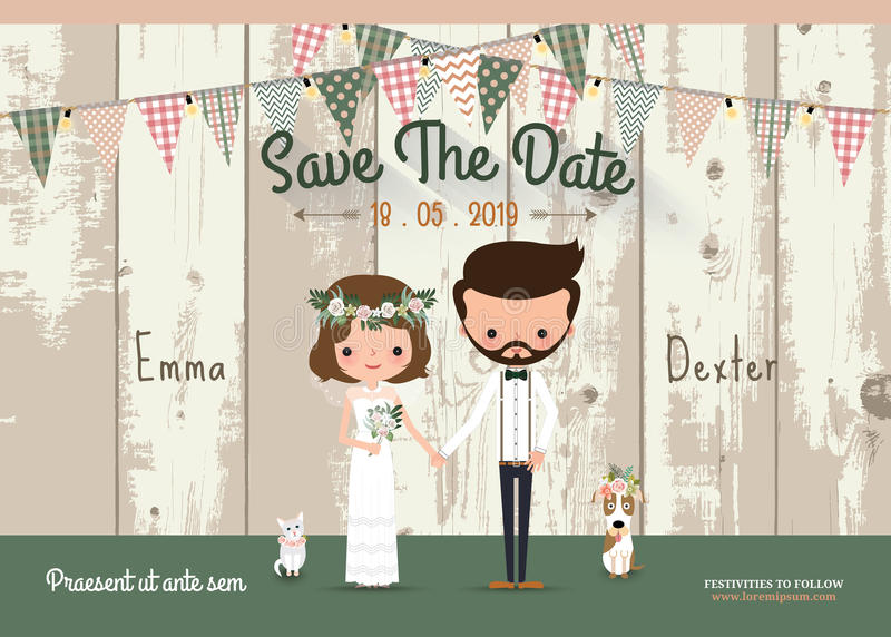 Antler Flowers Rustic Wedding Save The Date Invitation Card Stock