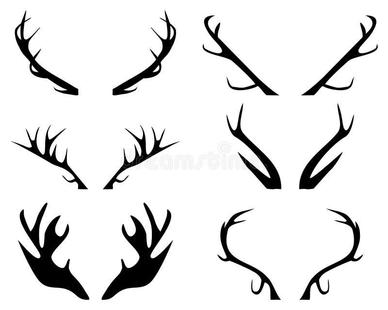 Antlers. Deer silhouette illustration